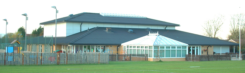The Community Centre from the main field